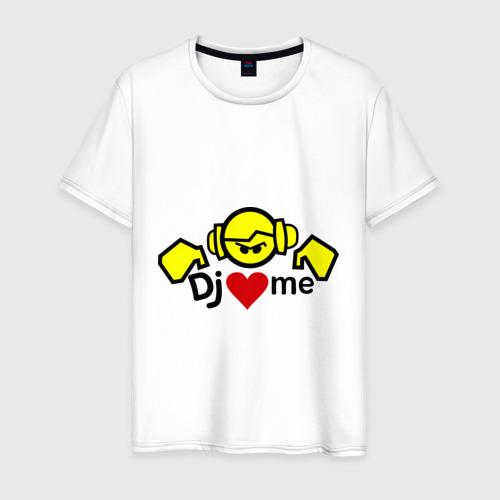 Мужская футболка хлопок Dj love me
