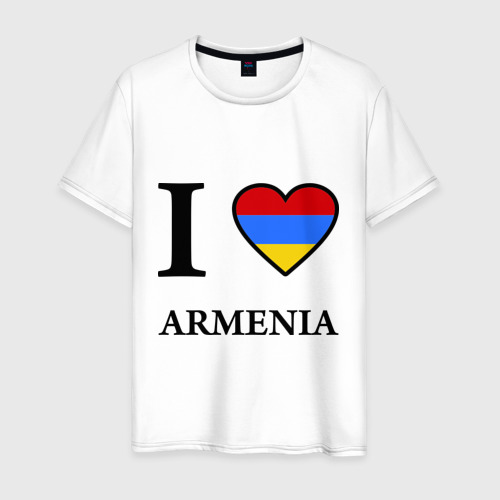 Мужская футболка хлопок I love Armenia