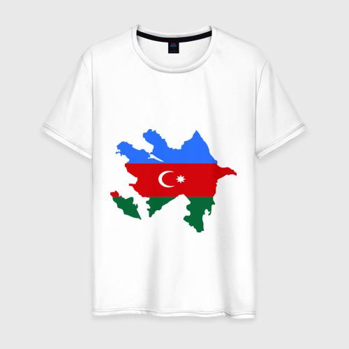 Мужская футболка хлопок Azerbaijan map