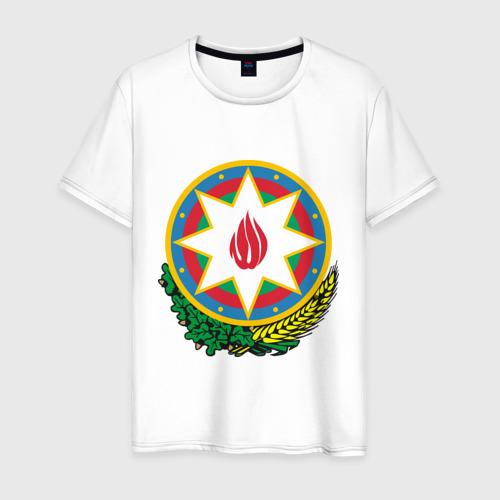 Мужская футболка хлопок Герб Азербайджана