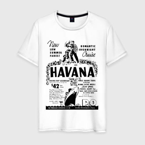 Мужская футболка хлопок Куба афиша