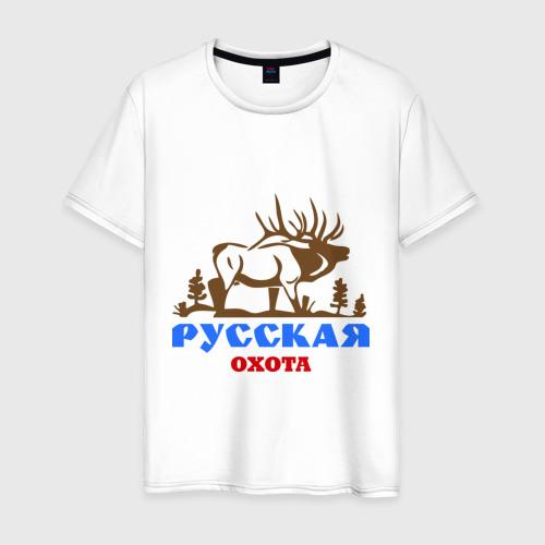 Мужская футболка хлопок Охота лось