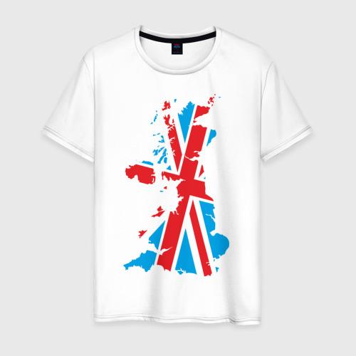 Мужская футболка хлопок карта британии