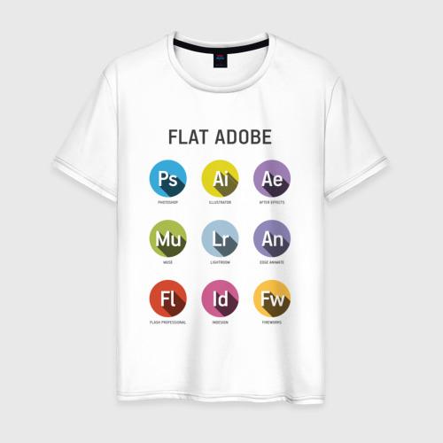 Мужская футболка хлопок Flat Adobe
