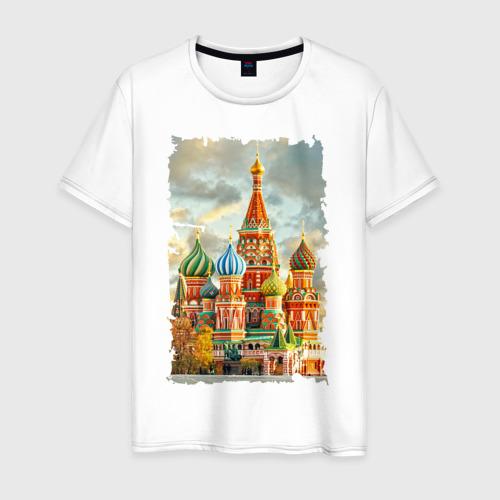 Мужская футболка хлопок Собор Василия Блаженного