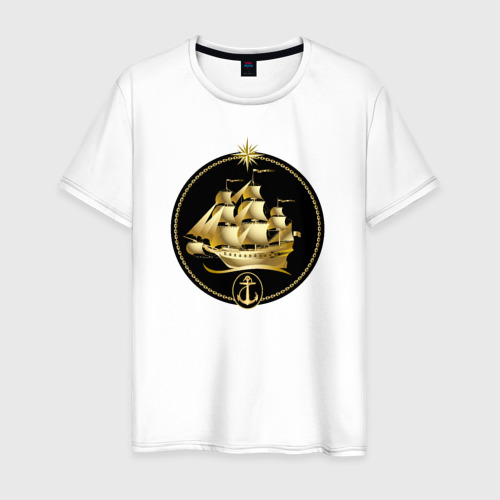 Мужская футболка хлопок Золотой парусник