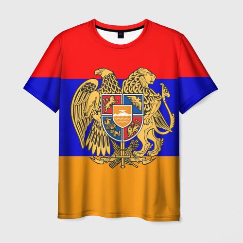 Мужская футболка 3D Герб и флаг Армении