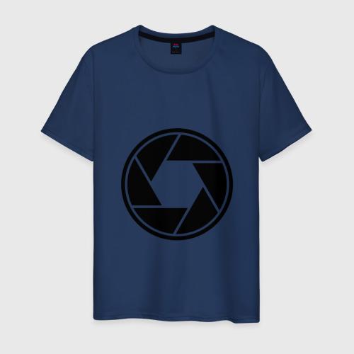 Мужская футболка хлопок Диафрагма объектива фотографу