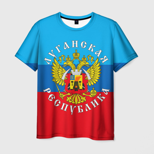 Мужская футболка 3D Луганская республика