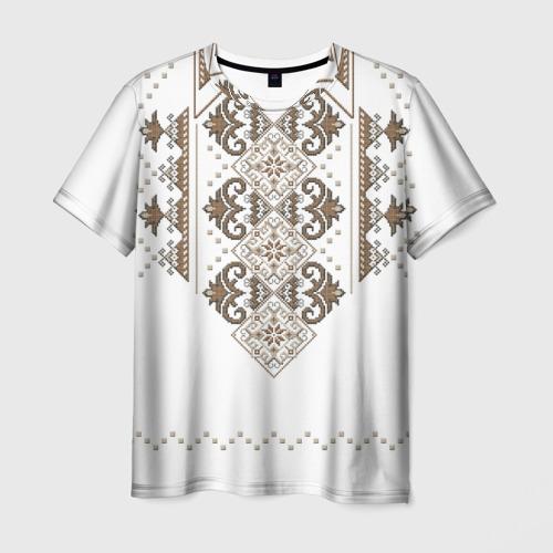 Мужская футболка 3D Вышивка 30