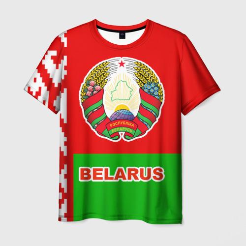Мужская футболка 3D Belarus 5