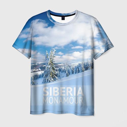 Мужская футболка 3D Сибирь