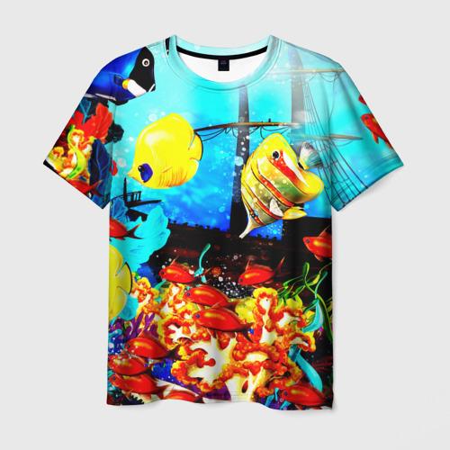 Мужская футболка 3D Подводный мир