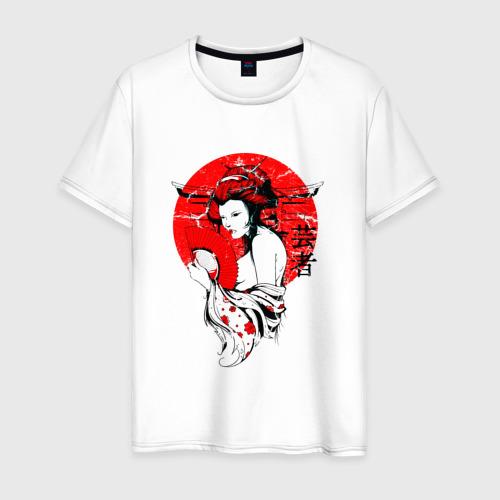 Мужская футболка хлопок Гейша