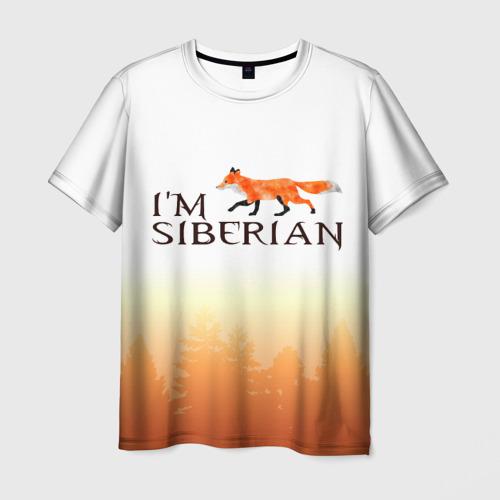 Мужская футболка 3D Я из Сибири