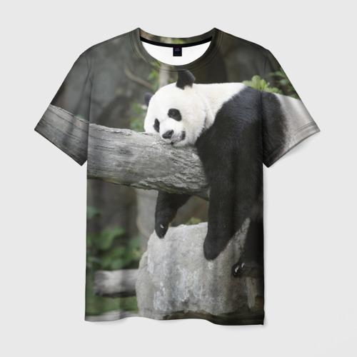 Мужская футболка 3D Большая уставшая панда