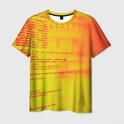 Мужская футболка 3D Компьютерный код