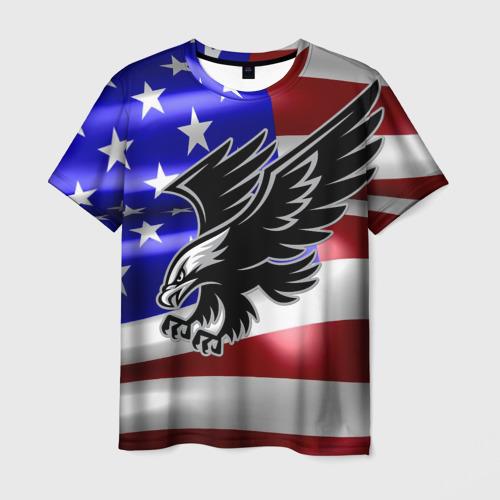 Мужская футболка 3D Флаг США с орлом