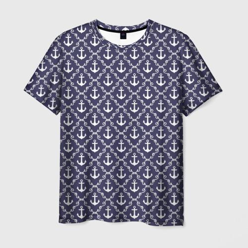 Мужская футболка 3D Якори