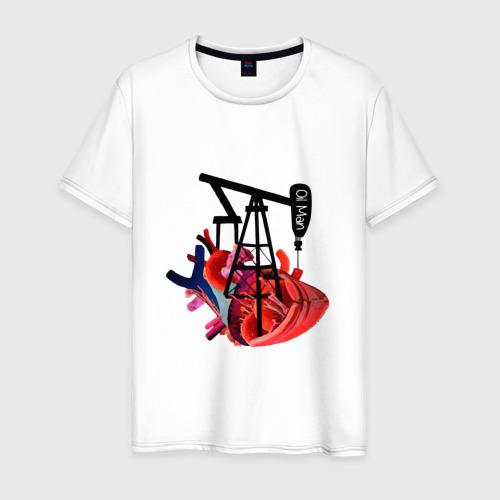 Мужская футболка хлопок Сердце нефтяника