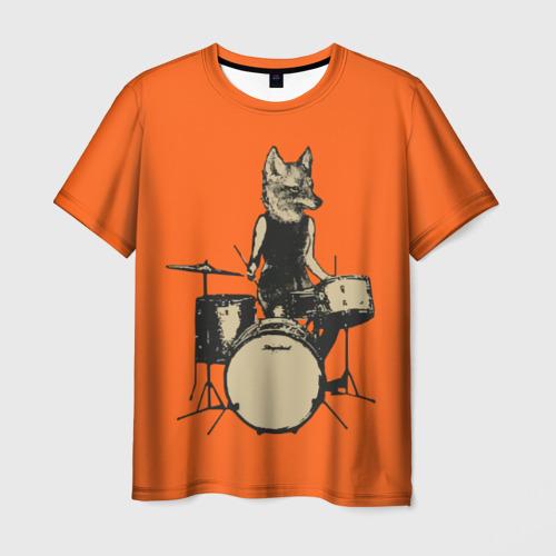 Мужская футболка 3D Drums