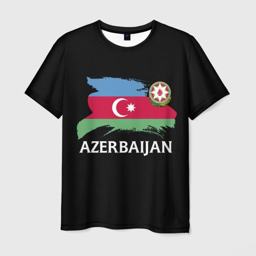 Мужская футболка 3D Азербайджан
