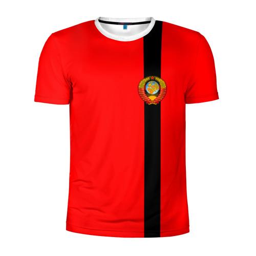 Мужская футболка 3D спортивная С гербом СССР