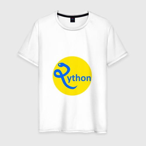Мужская футболка хлопок Python - язык программирования