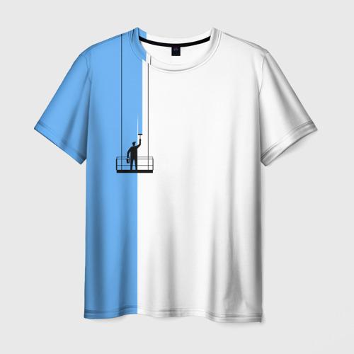 Мужская футболка 3D Маляр