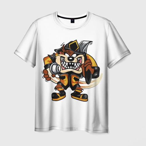 Мужская футболка 3D Пожарный демон