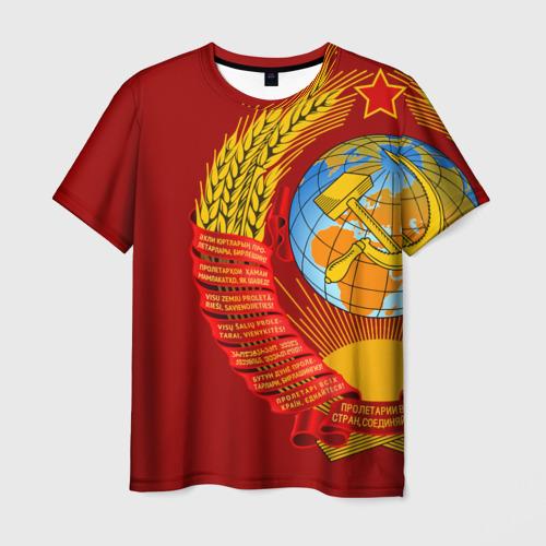 Мужская футболка 3D Герб СССР