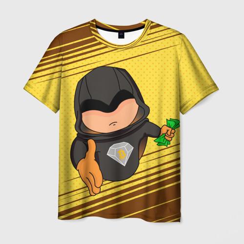Мужская футболка 3D Bitcoin Diamond
