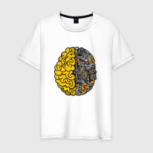 Мужская футболка хлопок Мозг