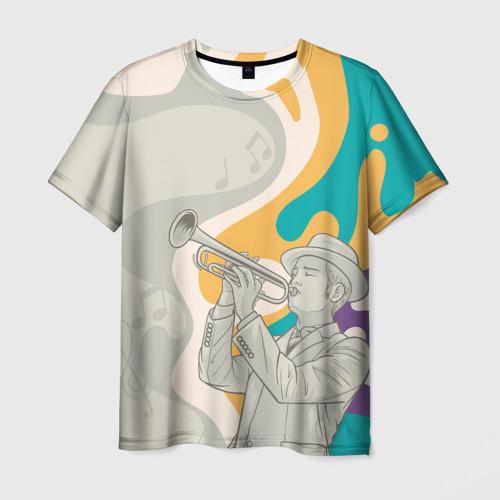 Мужская футболка 3D love saxophone