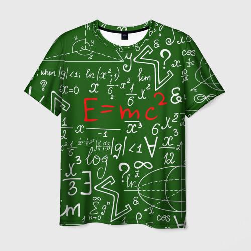 Мужская футболка 3D ФОРМУЛЫ ФИЗИКА