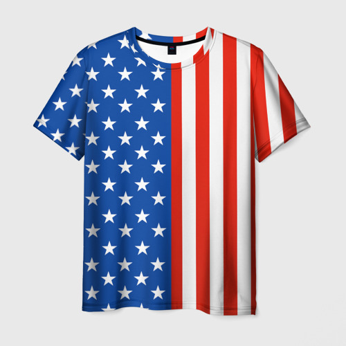 Мужская футболка 3D Американский Флаг