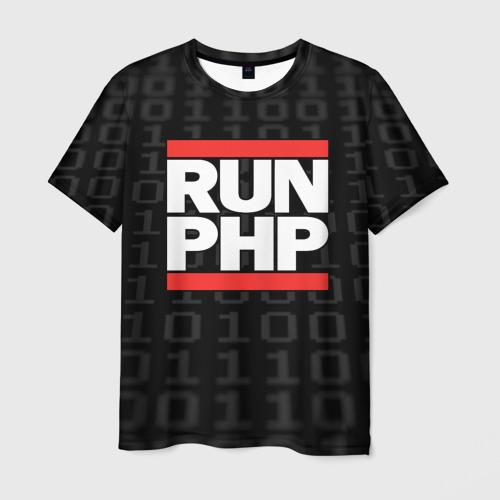 Мужская футболка 3D Run PHP