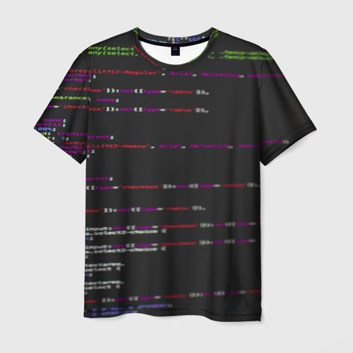 Мужская футболка 3D Программный код