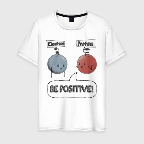 Мужская футболка хлопок Будь на позитиве!